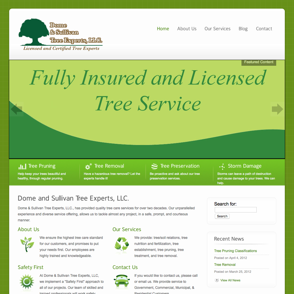 Founded in 1996, we provide a variety of services including: tree & shrub pruning, removals, stump grinding, disease and insect diagnosis and treatment (spraying), consultations, storm damage emergency work, firewood, tree cabling and bracing, lightening protection, and deep root fertilizing.