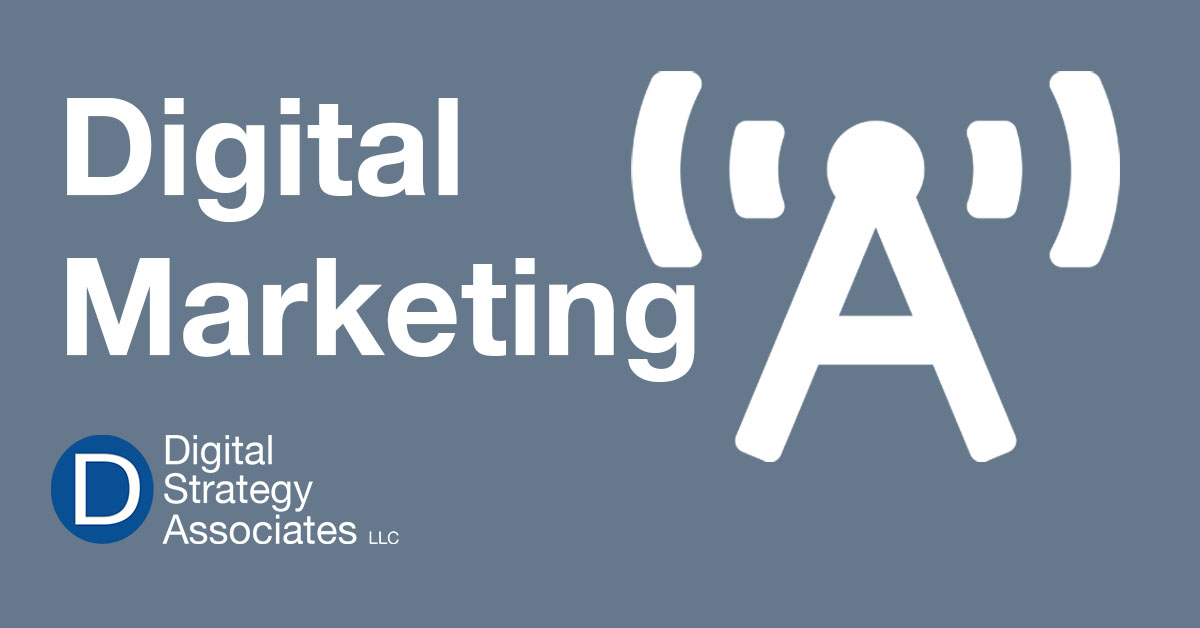 Banner displaying digital marketing